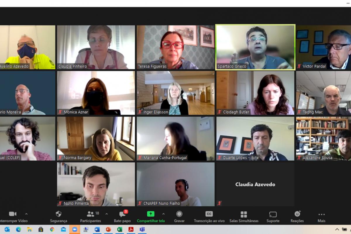 BLA team held a Zoom Meeting